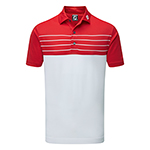 9973 FootJoy Stetch Pique Striped Colour Block (Athletic Fit)